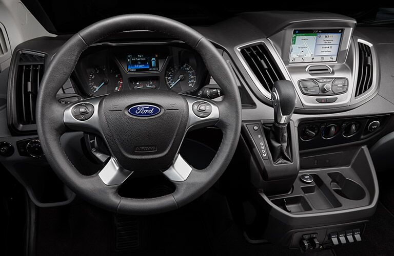 2017 Ford Transit interior steering wheel and dashboard