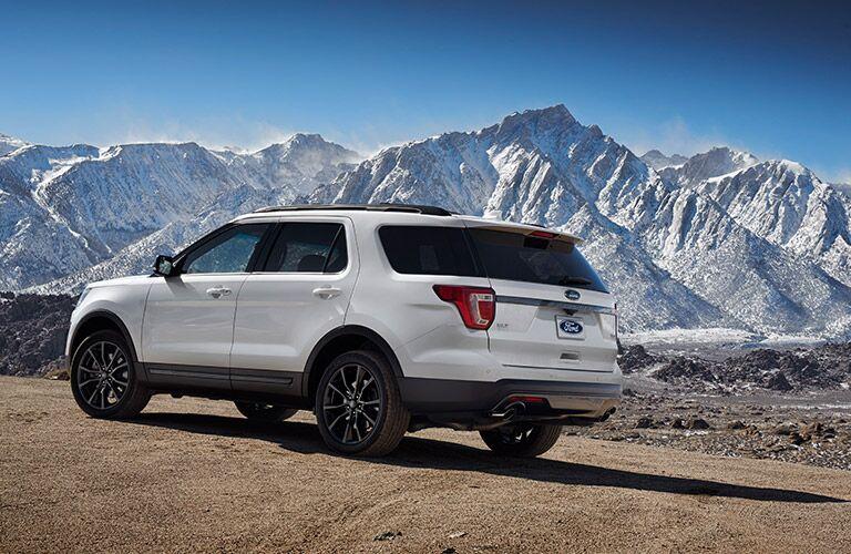 white 2017 Ford Explorer exterior side