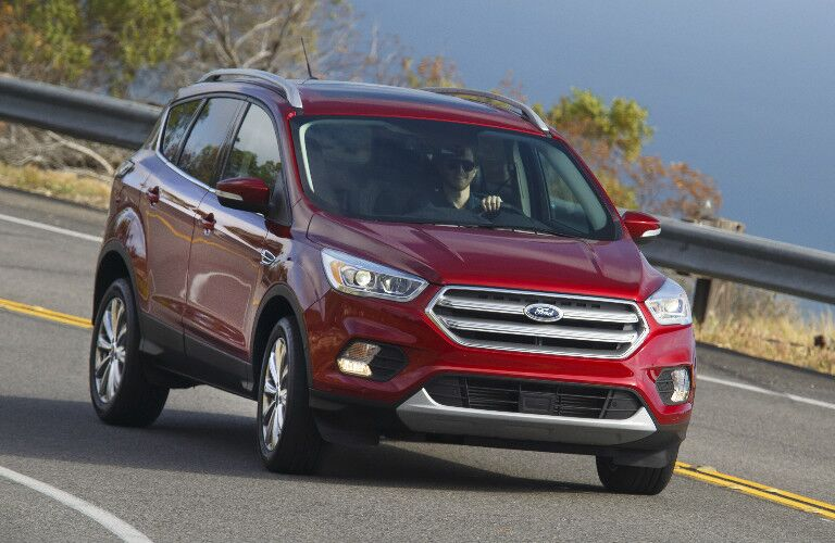 red 2017 Ford Escape exterior front on highway