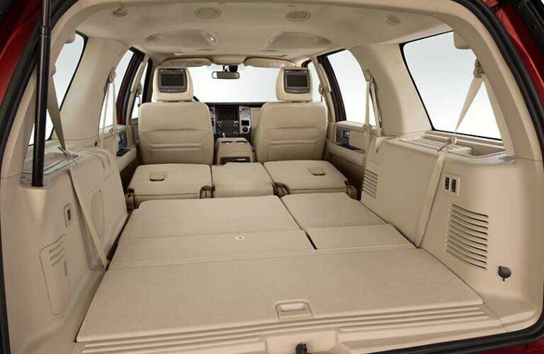 2017 Ford Expedition cargo area seats folded down