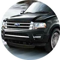 2017 Ford Expedition front grille and headlights