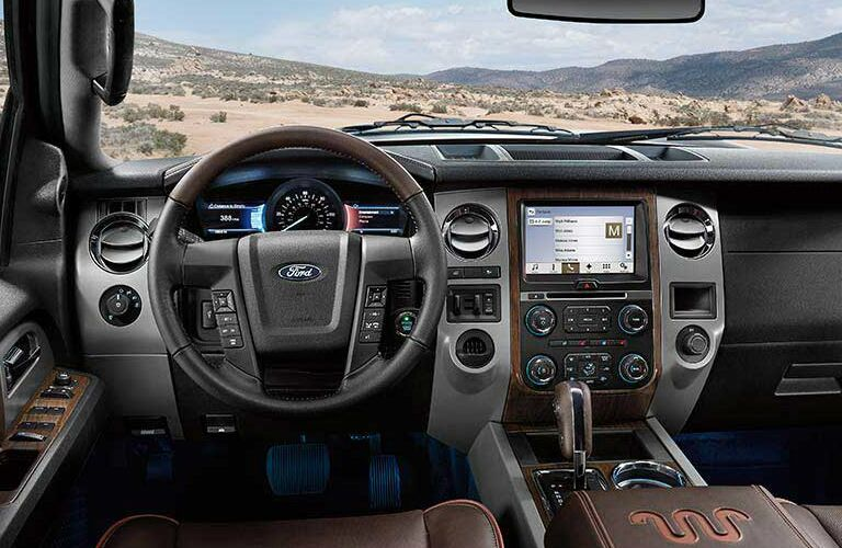 2017 Ford Expedition interior steering wheel and dashboard