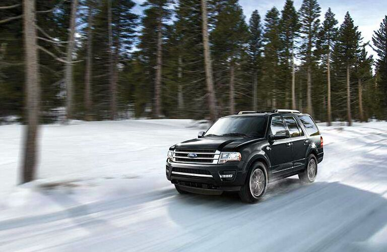 2017 Ford Expedition driving on snow-covered road