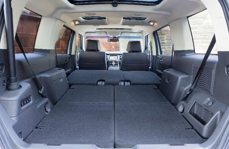 2017 Ford Flex interior cargo area seats folded down
