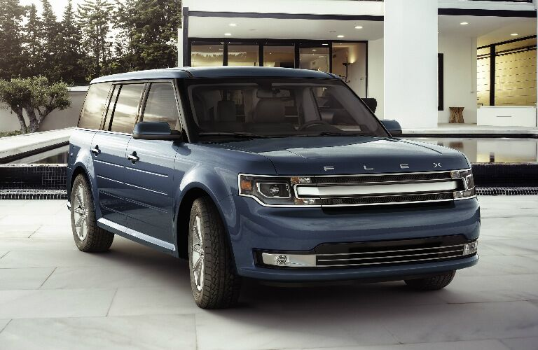 2017 Ford Flex exterior front side parked at house