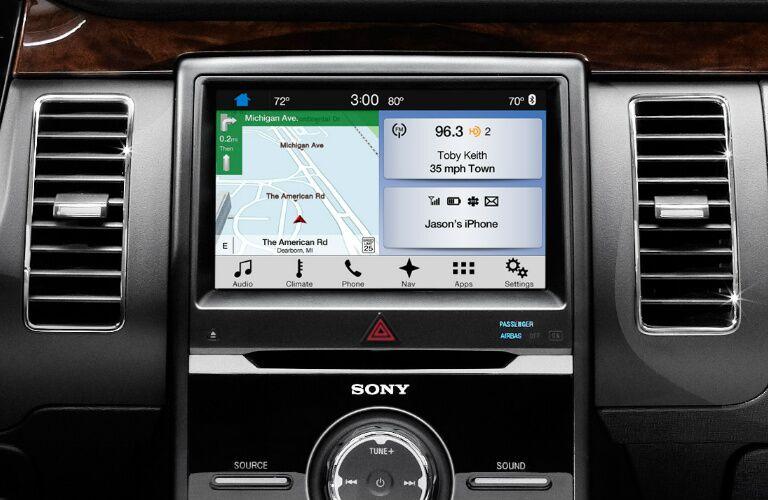 2017 Ford Flex navigation screen