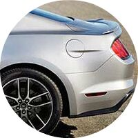 silver 2017 Ford Mustang rear