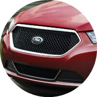 red 2017 Ford Taurus front grille