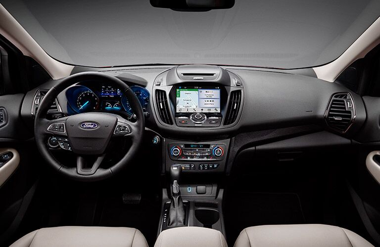 2017 Ford Escape interior steering wheel and dashboard