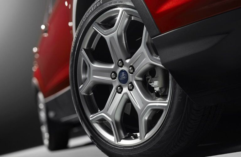 red 2017 Ford Escape wheel closeup