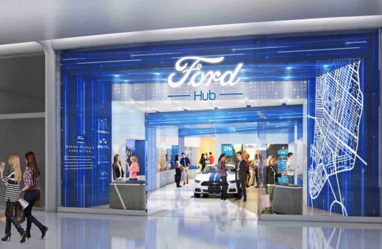 FordHub store artist rendering for FordPass