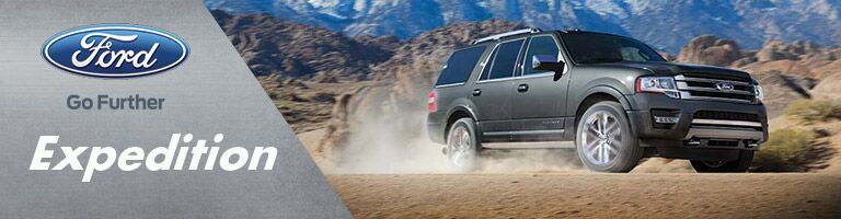 Ford Expedition driving through desert