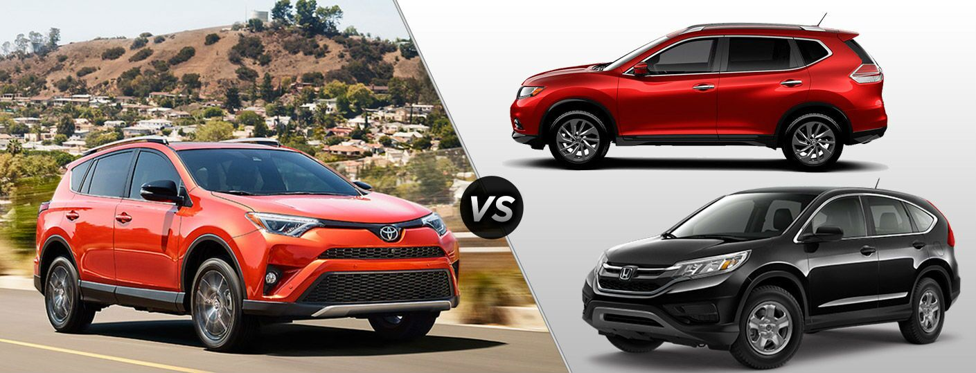 2016 toyota rav4 vs honda cr v vs nissan rogue