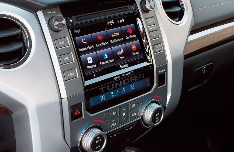 2017 Toyota Tundra closeup of the center display