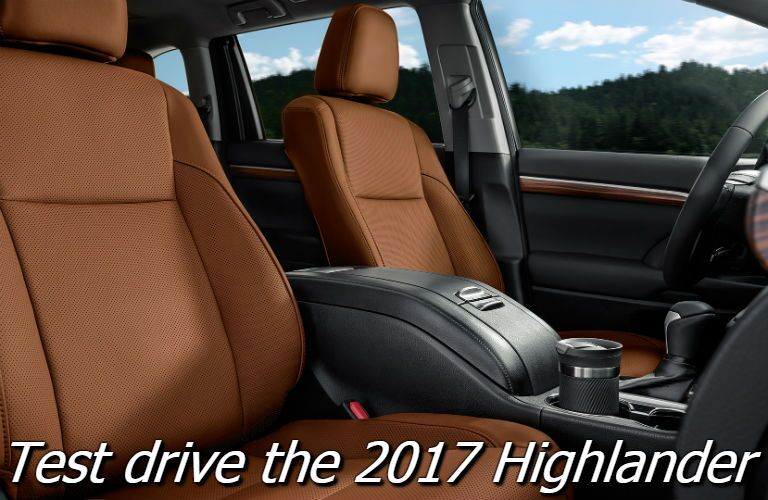 where can i test drive the 2017 toyota highlander in anderson county