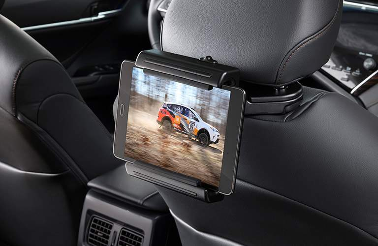 Tablet holder attached to the front seat of the 2018 Toyota Avalon