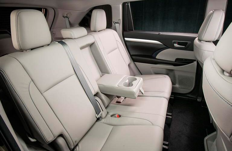 Third-row seat of the 2018 Toyota Highlander Hybrid