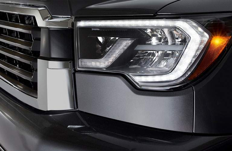 2018 Toyota Sequoia headlight close up