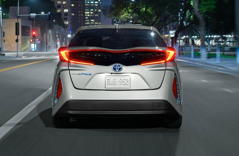 2018 Toyota Prius Prime rear exterior and headlights