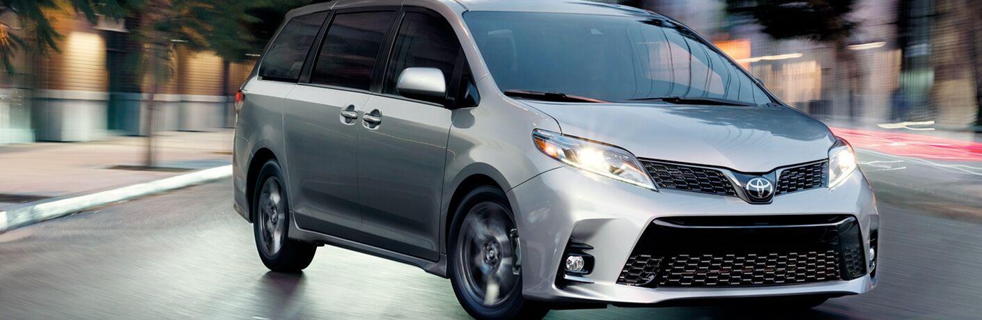 2019 Toyota Sienna exterior in grey