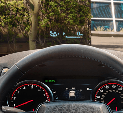 10-in. color Head-Up Display