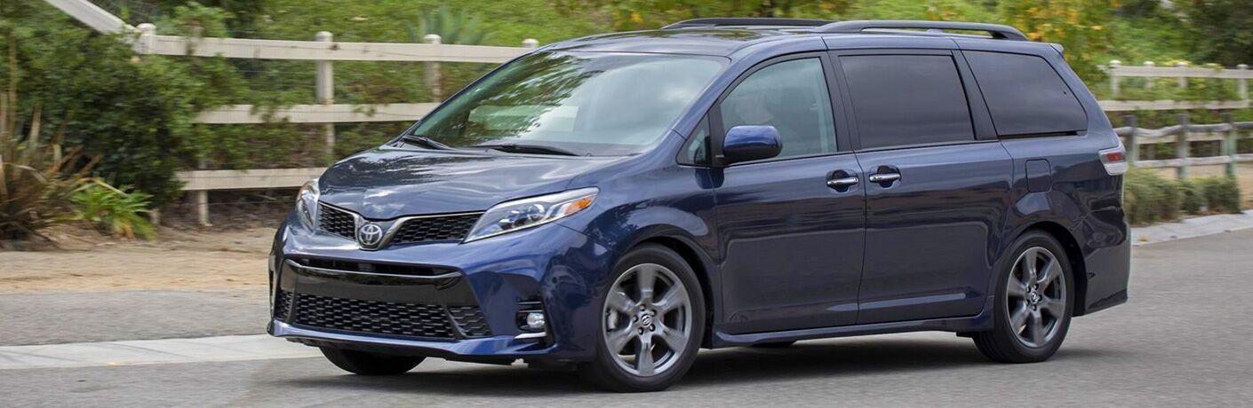 2020 Toyota Sienna exterior in blue