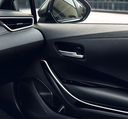 Available soft-touch interior