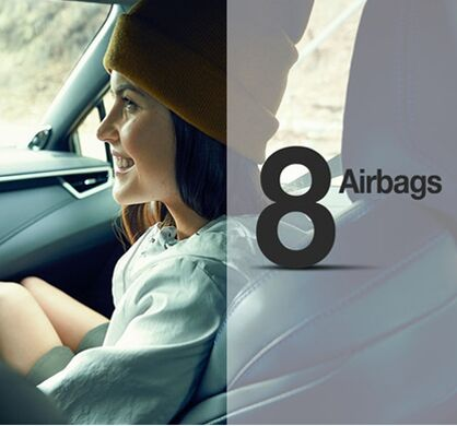 Eight standard airbags
