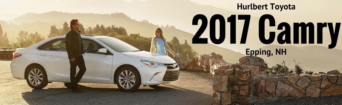 white 2017 Toyota Camry at Hurlbert Toyota in Epping, NH