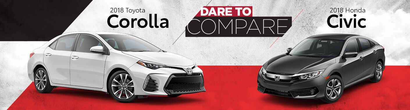 2018 Toyota Corolla vs. 2018 Honda Civic