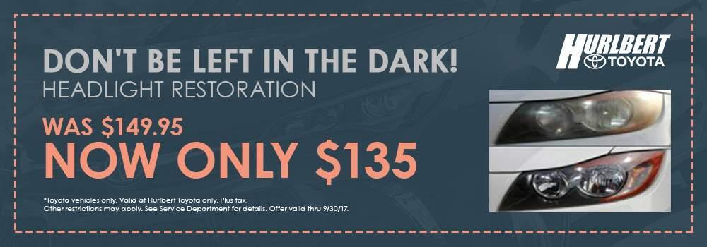 Headlight Restoration coupon
