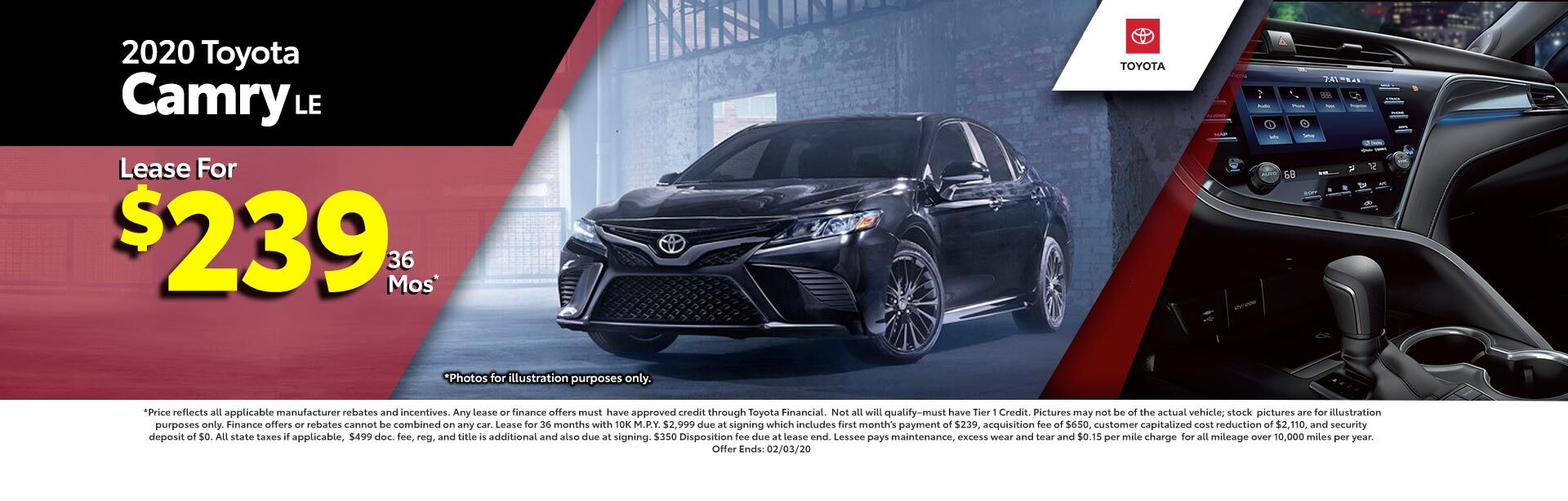 2019 Toyota Camry LE Special at McGee Toyota of Epping