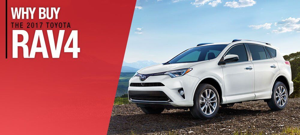 white 2017 Toyota RAV4 at Hurlbert Toyota in Epping, NH