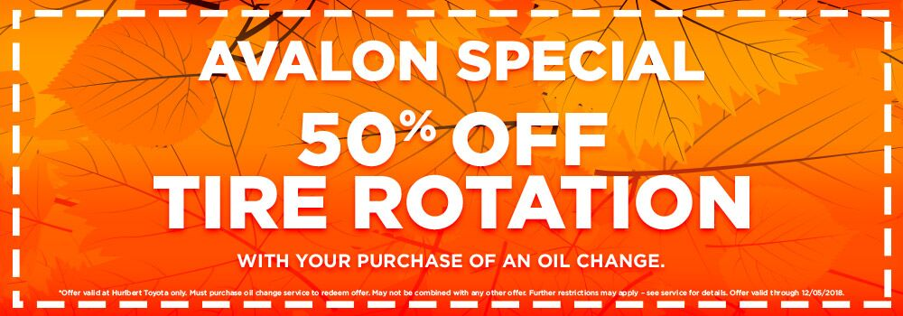 50% Off Tire Rotation