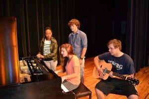 Christiansburg's Quadratonix, made up of Caleb Caldwell, Leah Piemonte, Jessica Watson and Luke Williams
