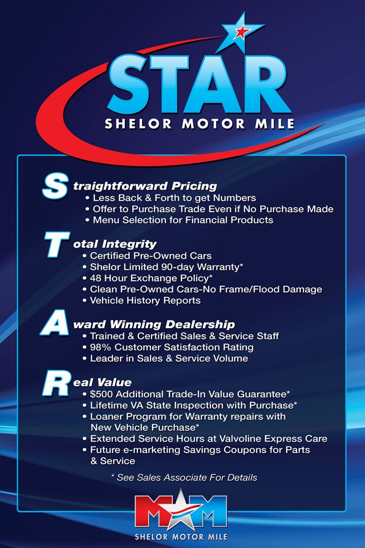 STAR Program - Straightforward Pricing, Total Integrity, Award Winning Dealership, and Real Value