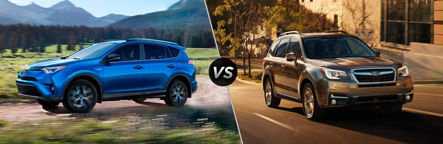 2017 Toyota RAV4 vs 2017 Subaru Forester