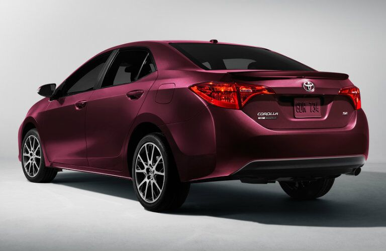 Black Cherry 2017 Toyota Corolla Columbus IN rear angle