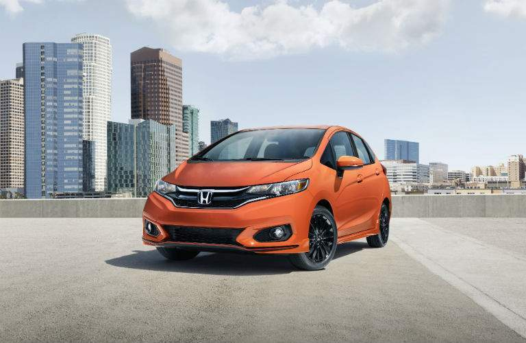 Orange Fury is one of the new colors introduced for the 2018 Honda Fit