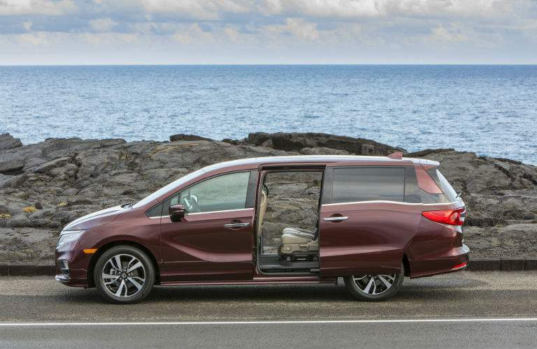 The 2018 Odyssey has wide opening rear doors for easy access and exits