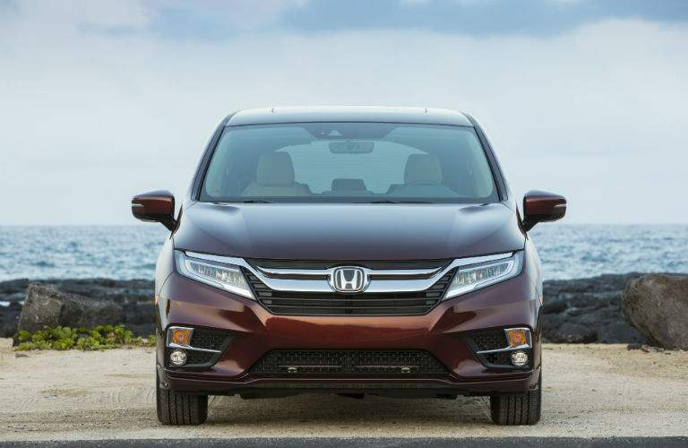 Several elements on the front of the 2018 Honda Odyssey have been upgraded