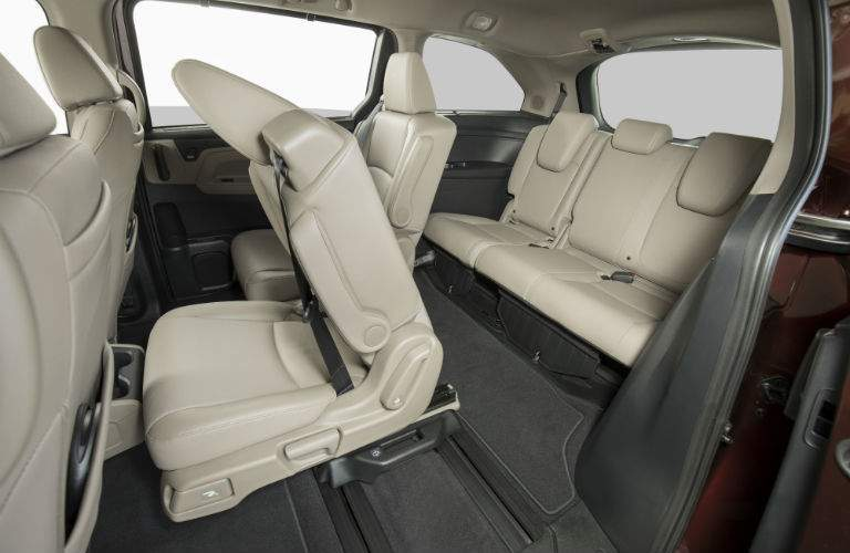 It is now easier for adults to get to the third row in the 2018 Odyssey