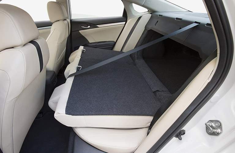 Some trims of the 2017 Civic allow the back seat to fold down for more cargo space