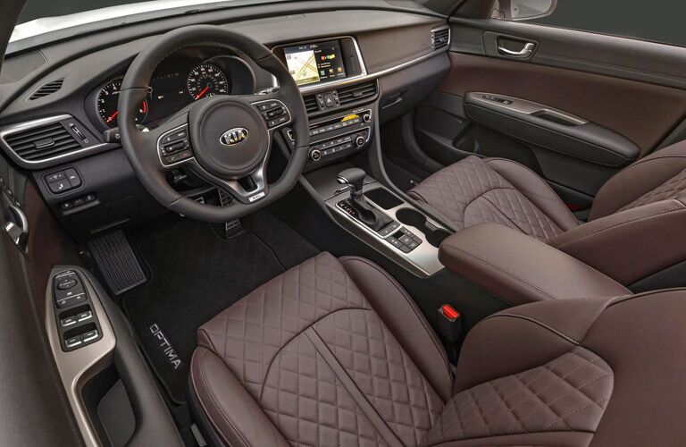2017 Kia Optima interior quilted seats_o