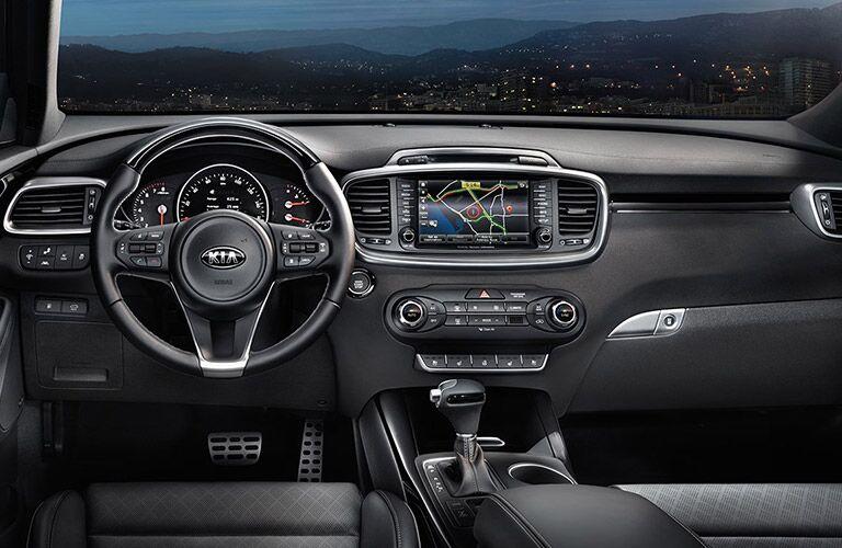 2017 Sorento steering wheel and dashboard