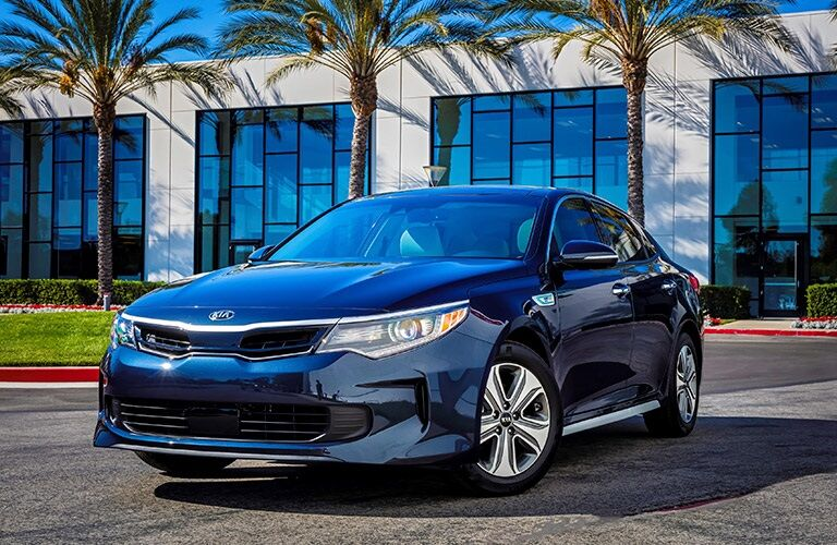 Blue 2017 Kia Optima Hybrid