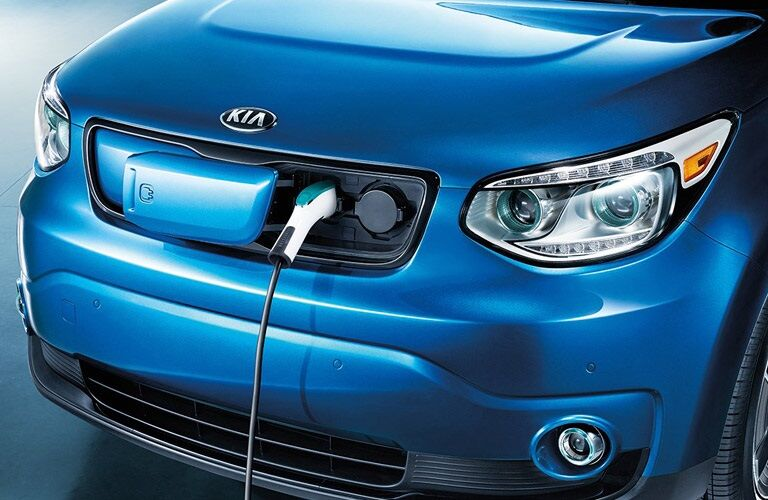 Charging port in the 2017 Kia Soul EV