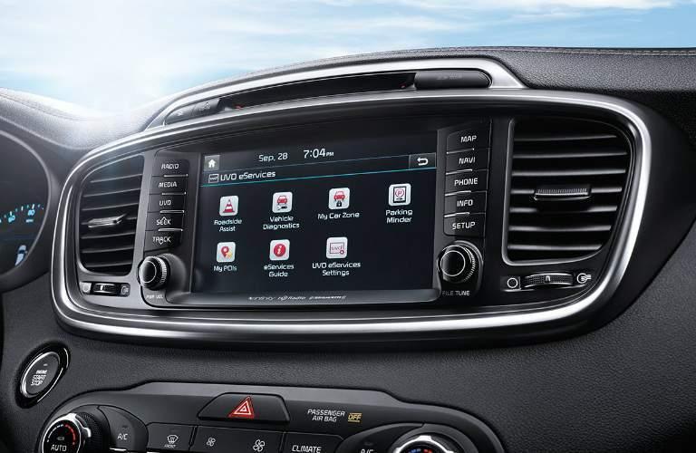 Infotainment system of the 2018 Kia Sorento