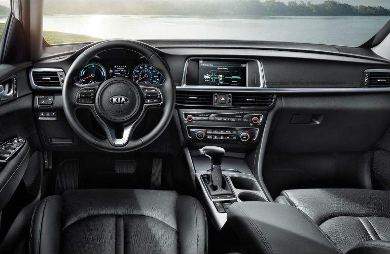 2018 Kia Optima Hybrid front interior view