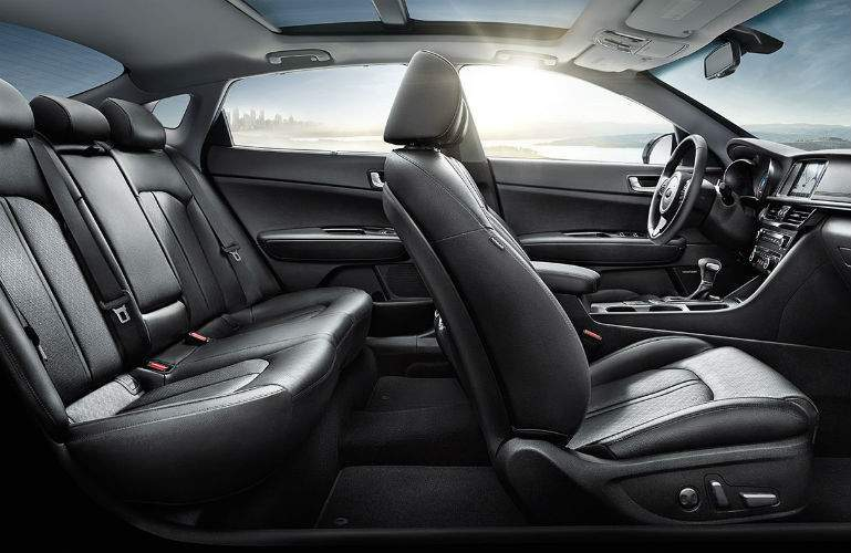 2018 Kia Optima Hybrid profile view of the seating